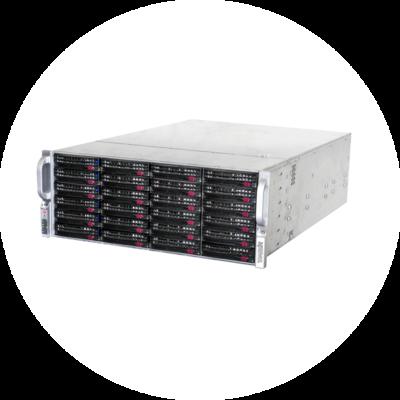 Стоечный сервер TRASSIR UltraStation 24/3 с 24 HDD 3 Тбайт