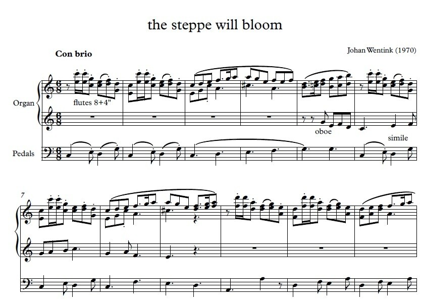 De steppe zal bloeien (The Steppe will bloom)