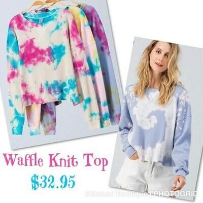 Tye-Dye Waffle Knit Top