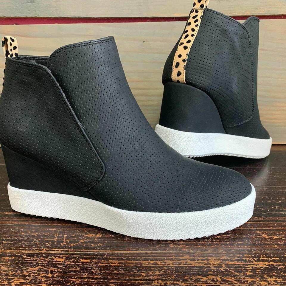 Back In Black Wedge Sneaker