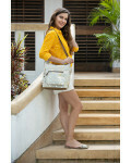 Glaze and Leather Shoulder Bag