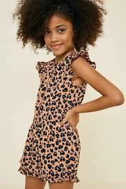 Girls Chilling Leopard Romper