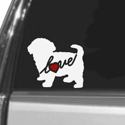 Maltipoo Vinyl Car Window Decal Sticker Always FREE Shipping