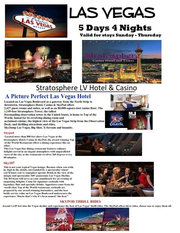 5 Days 4 Nights Las Vegas