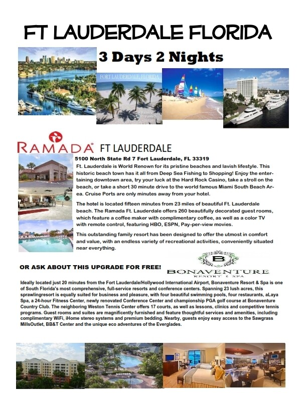 3 Days 2 Nights Fort Lauderdale Florida Fun & Sun!