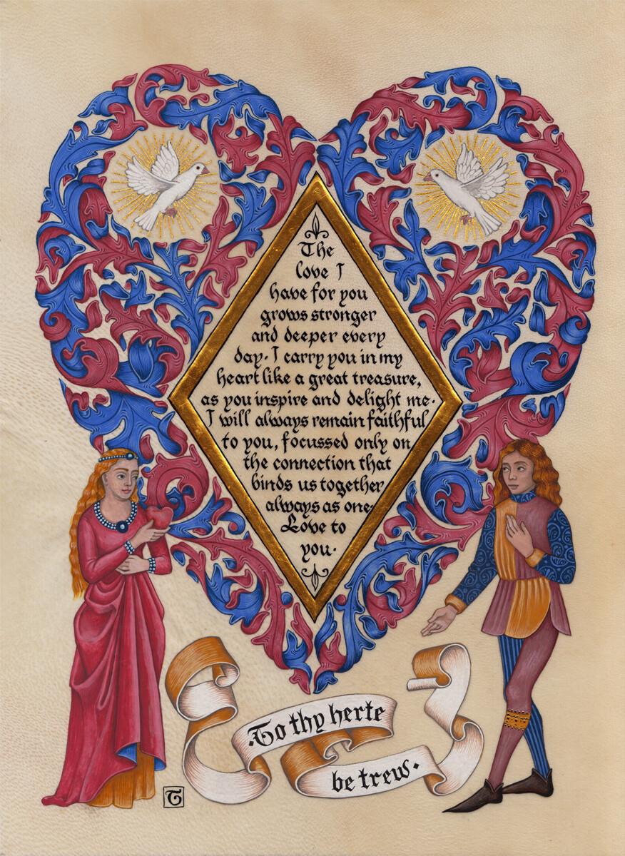 To thy herte be trew