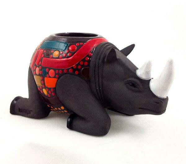 Rhino Candle Holder
