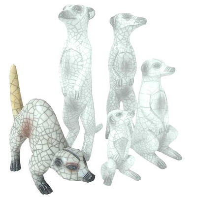 Ceramic Meerkat Crouching