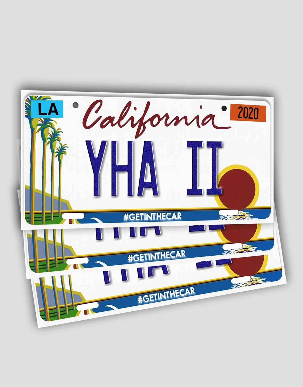 License Plate Sticker