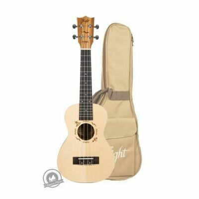 Flight: DUC525 Concert Solid Top Ukulele - Zebrano B&S
