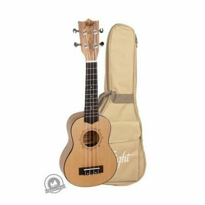 Flight: DUS320 Soprano Ukulele - Zebrawood B&S (With Bag)