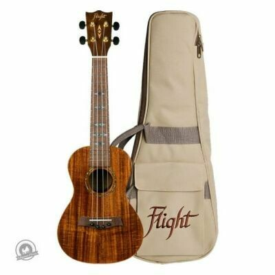 Flight: DUC445 Concert Koa Ukulele (With Bag)