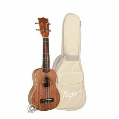 Flight: DUS321 Soprano Ukulele - Mahogany (With Bag)