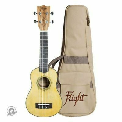 Flight: DUS330 Relic Soprano Ukulele (With Bag)