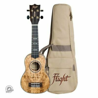 Flight: DUS410 Soprano Ukulele -Quilted (With Bag)