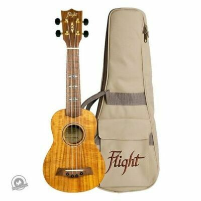 Flight: DUS440 Soprano Koa Ukulele (With Bag)
