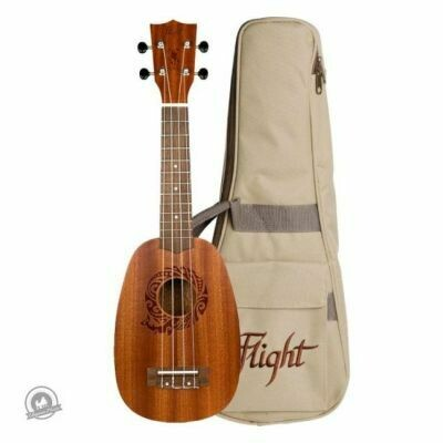 Flight: NUP310 Pineapple Ukulele - Sapele (With Bag)