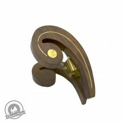 Wooden Music Clip - Bass Clef