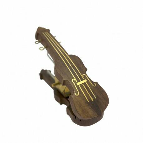 Wooden Music Clip - Violin