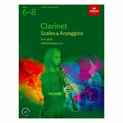 ABRSM Clarinet Scales and Arpeggios Grade 6-8 (From 2018)