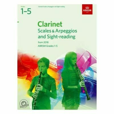 ABRSM Clarinet Scales and Arpeggios Grades 1-5 From 2018