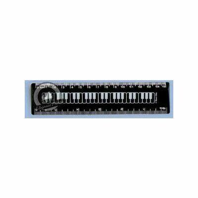 6 Inch Ruler Keyboard Black