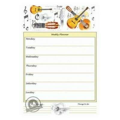 A4 Weekly Planner - Guitar Design