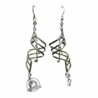 Earrings Silver Note Drops
