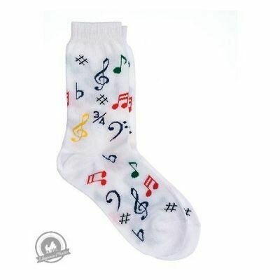 Kids' Socks - Multi Notes (White)
