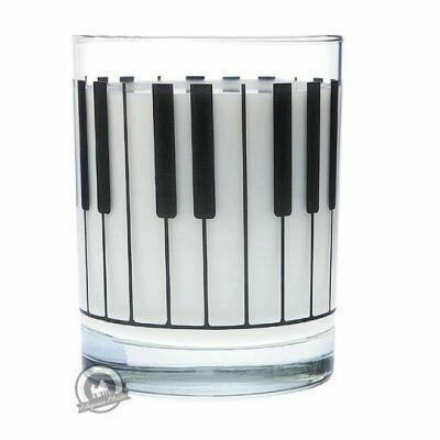 Clear Glass Tumbler: Keyboard