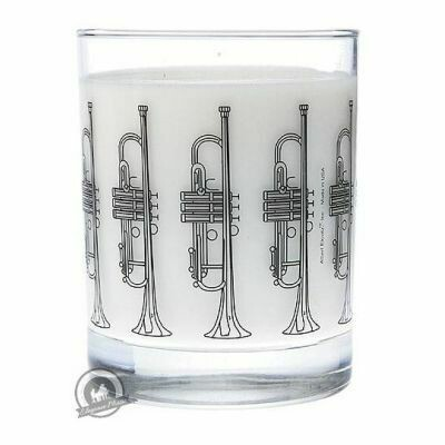 Clear Glass Tumbler: Trumpet