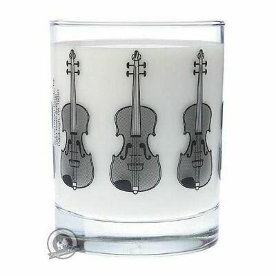 Clear Glass Tumbler: Violin