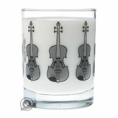 Clear Glass Tumbler: Violin
