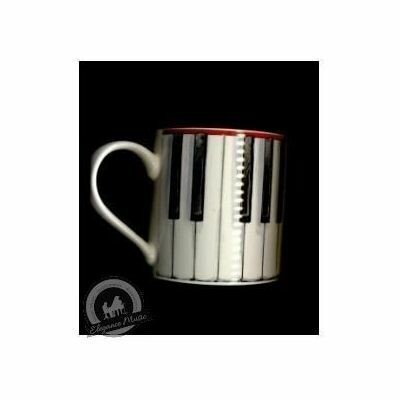Fine China Mug - Piano Keys Design