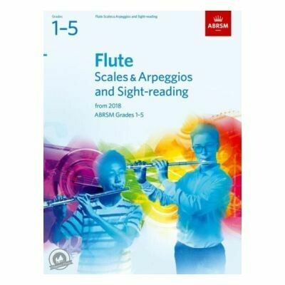 ABRSM Flute Scales and Arpeggios Grades 1-5 From 2018