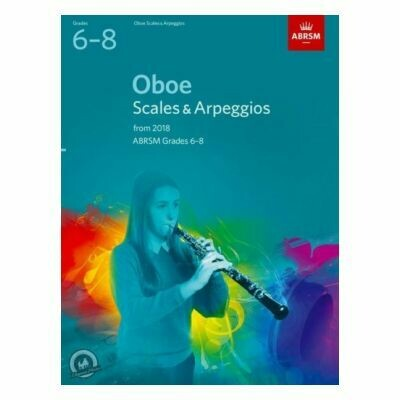 ABRSM Oboe Scales and Arpeggios Grades 6-8 From 2018