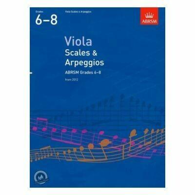 ABRSM Viola Scales & Arpeggios Grades 6-8 (from 2012)