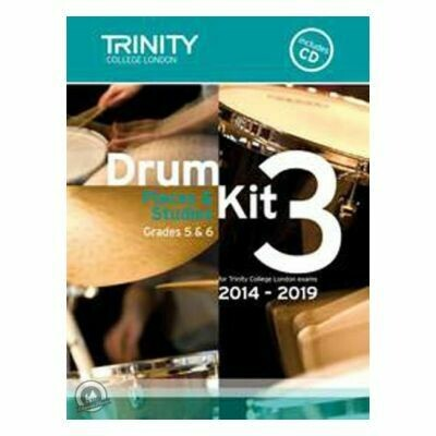 Trinity Drum Kit 2014-2019 Book 3 + CD
