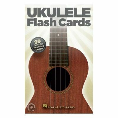 Ukulele Flash Cards-99 Cards For Beginning Ukulele