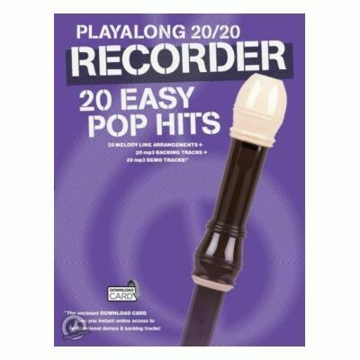 Playalong 20/20 Recorder: 20 Easy Pop Hits (with Audio-Online)