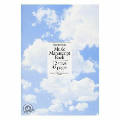 Woodstock Music Manuscript Paper: 12 Stave (32 pages - A4 Stitch)
