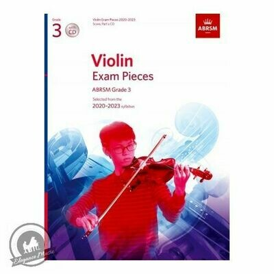 ABRSM Violin Exam Pieces 2020-2023 Grade 3 (Book with CD)