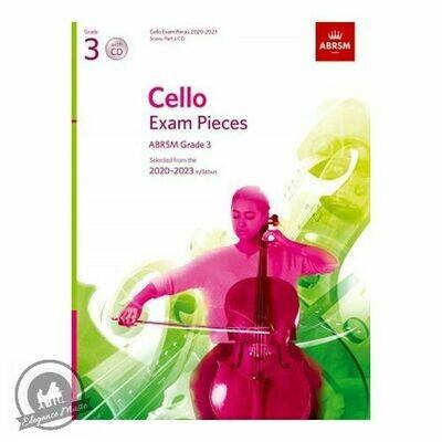 ABRSM Cello Exam Pieces 2020-2023 Grade 3 (Book with CD)