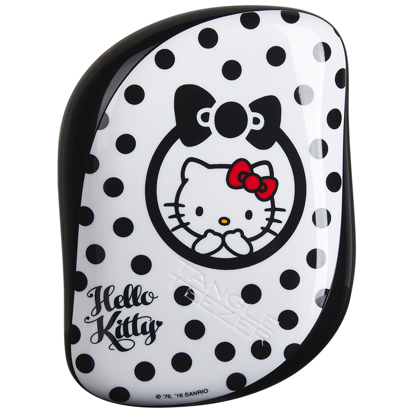 Tangle Teezer Compact Styler | Cepillo Desenredante Hello Kitti Black-White
