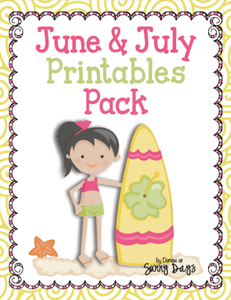 June and July Printables Pack