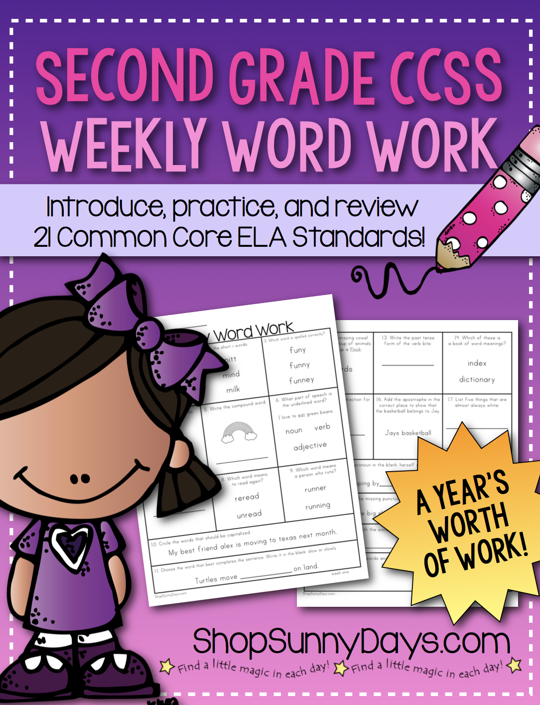 Second Grade Weekly Word Work