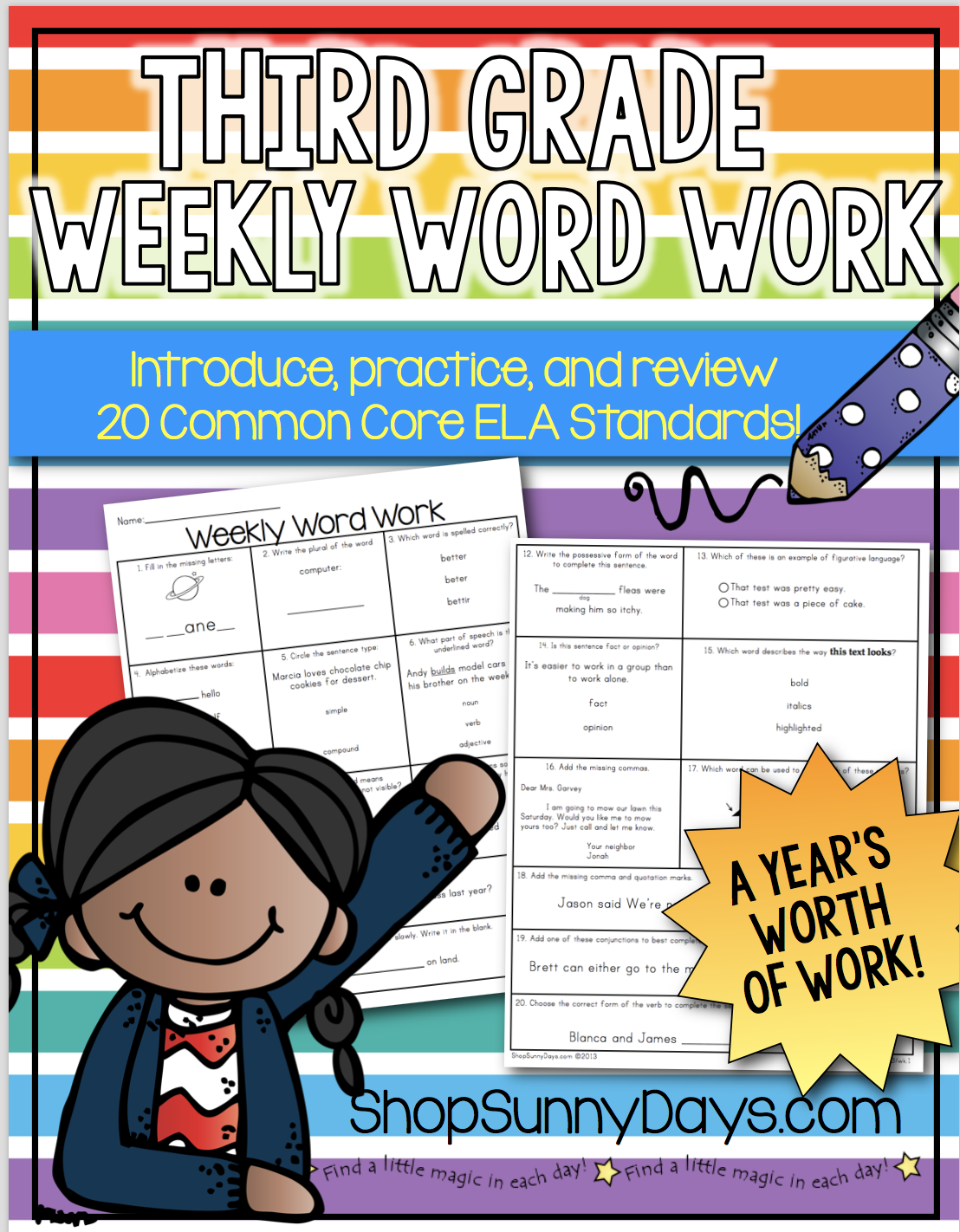 Third Grade Weekly Word Work