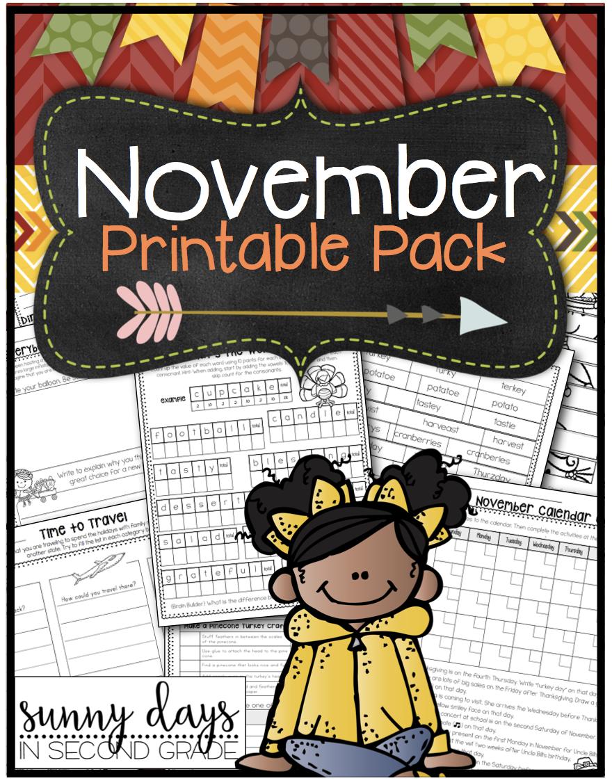 November Printables Pack