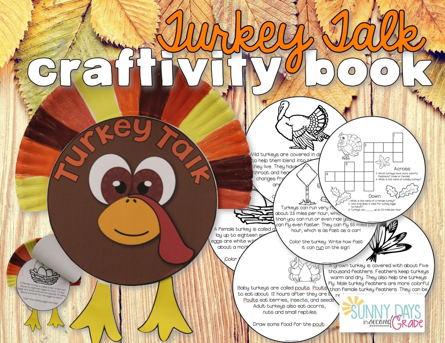 Turkey Talk: Informational Text Craftivity Book