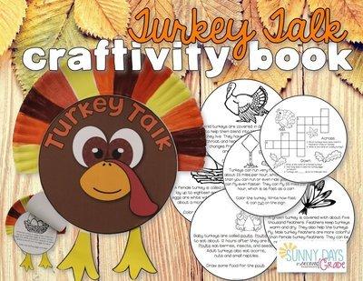 Turkey Talk: Informational Text Craftivity Book